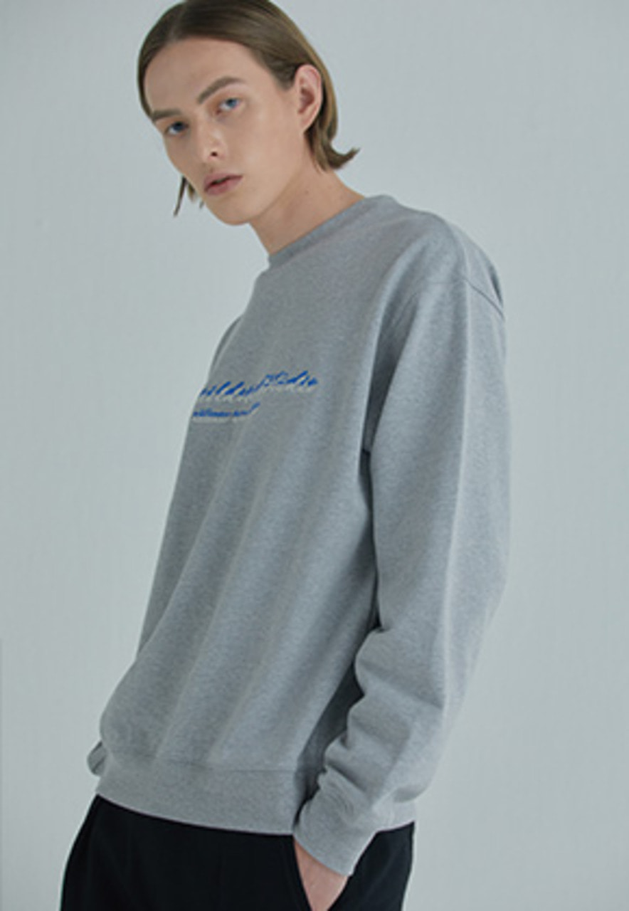 YIGNIL이그닐 Grey Overlapped 'SEASON 2' Sweatshirt
