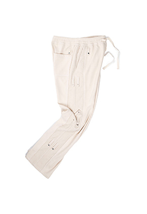 MUTEMENT뮤트먼트 ivory side RC cotton frame pants