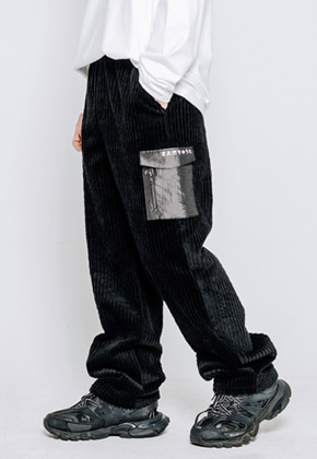 Maedaryuto마에다류토 LETTERING POCKET CORDUROY PANTS