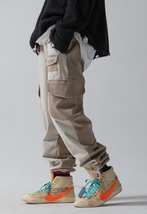 Maedaryuto마에다류토 PIGMENT MULTI POCKET PANTS - BEGIE