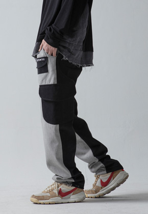 Maedaryuto마에다류토 PIGMENT MULTI POCKET PANTS - BLACK