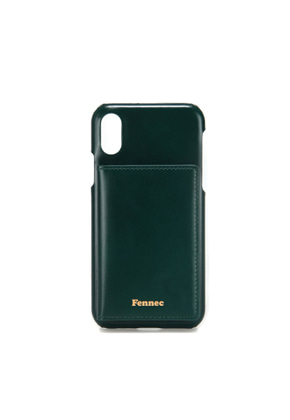 Fennec페넥 (당일발송) LEATHER iPHONE XS POCKET CASE - MOSS GREEN