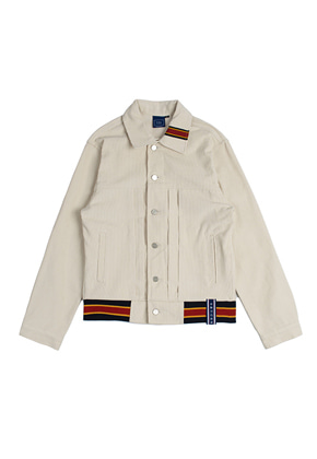 Romantic Crown로맨틱크라운 Color Tape Corduroy Jacket_Oatmeal