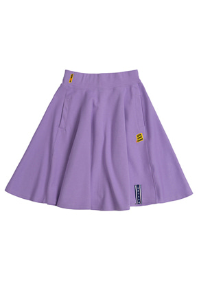 Romantic Crown로맨틱크라운 Mid Line Flare Skirt_Purple