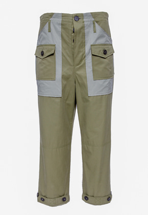 Maedaryuto마에다류토 Two-Tone Pocket Pants- KHAKI