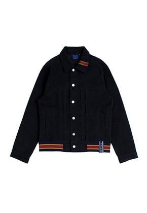 Romantic Crown로맨틱크라운 Color Tape Corduroy Jacket_Navy