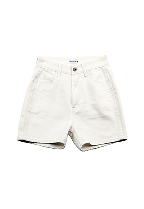 AJO BY AJO FINK LABEL Symbol Denim Shorts [White]