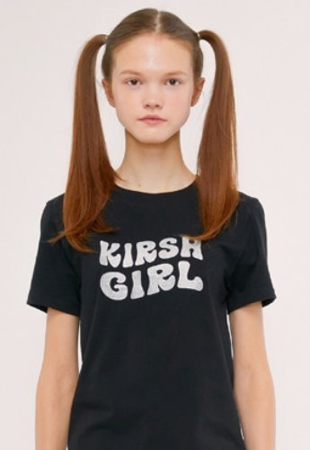 KIRSH키르시 KIRSH GIRL GLITTER TEE IS [BLACK]
