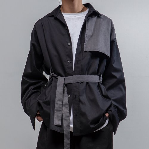 Maedaryuto마에다류토 TRENCH MOOD OVERFIT SHIRT JACK