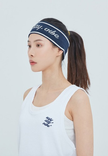 Romantic Crown로맨틱크라운 Easy Day Vibe Hair Band_Navy