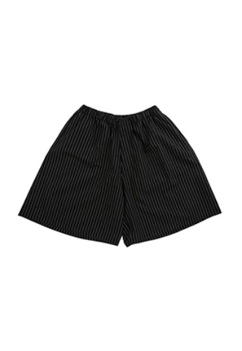 AJO BY AJO아조바이아조 Stripe Seersucker Shorts [Black]