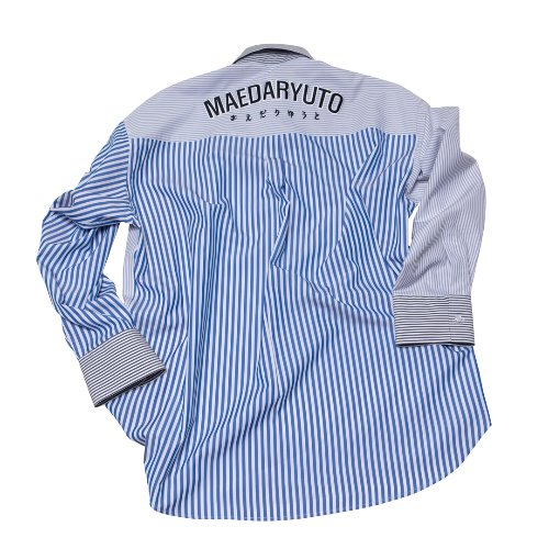 Maedaryuto마에다류토 TRIPLE STRIPE LOGO OVERFIT SHIRT