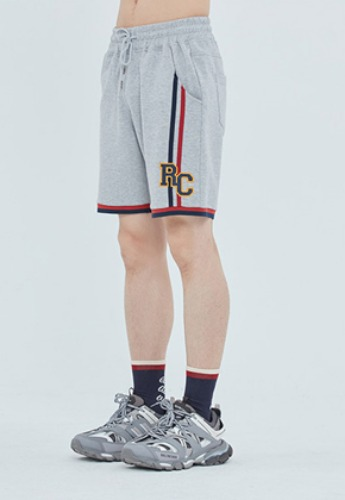 Romantic Crown로맨틱크라운 RC Double Line Half Pants_Grey