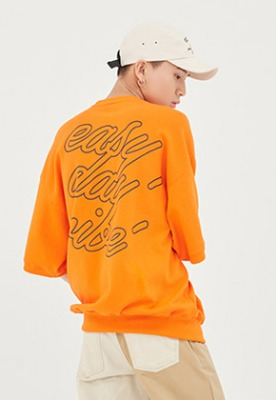 Romantic Crown로맨틱크라운 E.D.V Pocket T Shirt_Orange