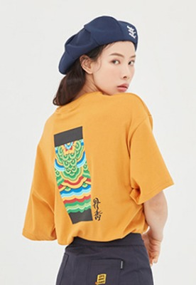 Romantic Crown로맨틱크라운 Dancheong T Shirt_Yellow