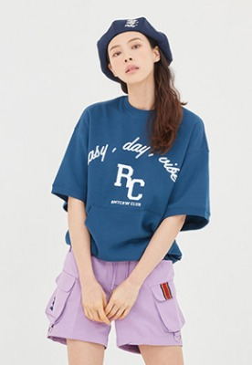 Romantic Crown로맨틱크라운 E.D.V Pocket T Shirt_Blue