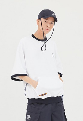 Romantic Crown로맨틱크라운 Pocket Sweat T Shirt_White