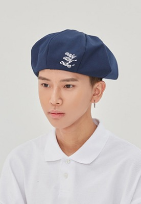 Romantic Crown로맨틱크라운 E.D.V Newsboy Cap_Navy