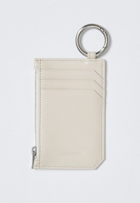 Haleine알렌느 CREAM leather card holder(IA003)
