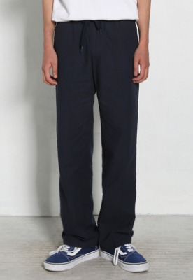 Voiebit브아빗 V278 BASIC LINEN BANDDING PANTS  NAVY
