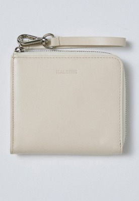 Haleine알렌느 CREAM leather holder wallet(IA005)