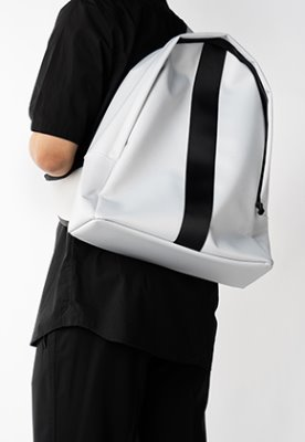 HAH ARCHIVE하 아카이브 2WAY SILVER GREY TWILL POLYESTER BACK PACK
