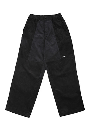 AJO BY AJO아조바이아조 Tri Mixed Corduroy Pants [Black]