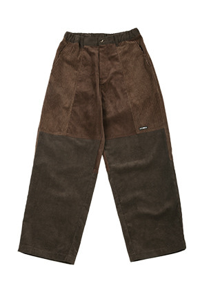 AJO BY AJO아조바이아조 Tri Mixed Corduroy Pants [Brown]