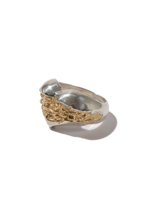 Kruchi크루치 heart ring (silver,14k gold plated)