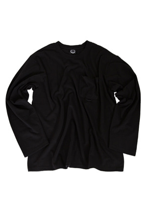 Kruchi크루치 Pocket Long Sleeve - (Black)