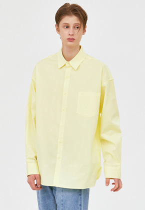 Voiebit브아빗 V457 MINIMAL POCKET OVERFIT SHIRTS  LIME