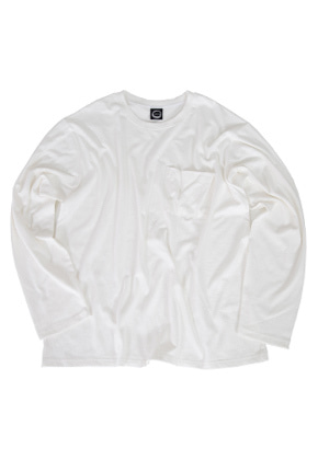 Kruchi크루치 Pocket Long Sleeve - (White)