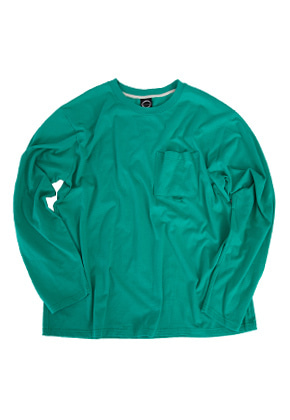 Kruchi크루치 Pocket Long Sleeve - (Mint)