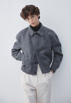 Haleine알렌느 CHARCOAL wool short blouson(KJ008)