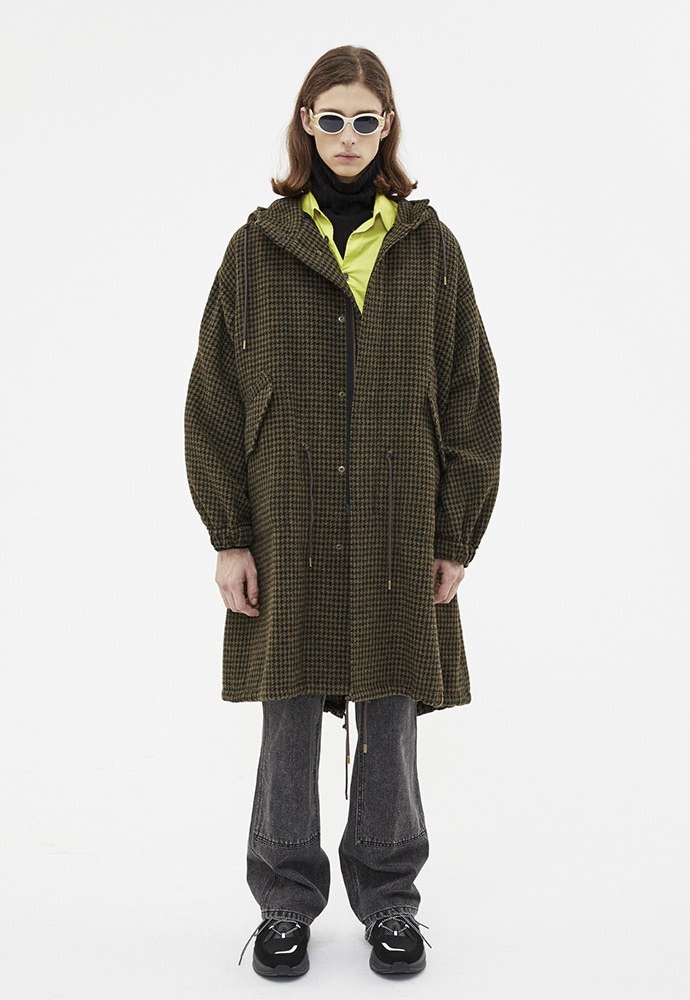 Anderssonbell앤더슨벨 LUKE HOUNDTOOTH M-51 FISHTAIL PARKA awa188m
