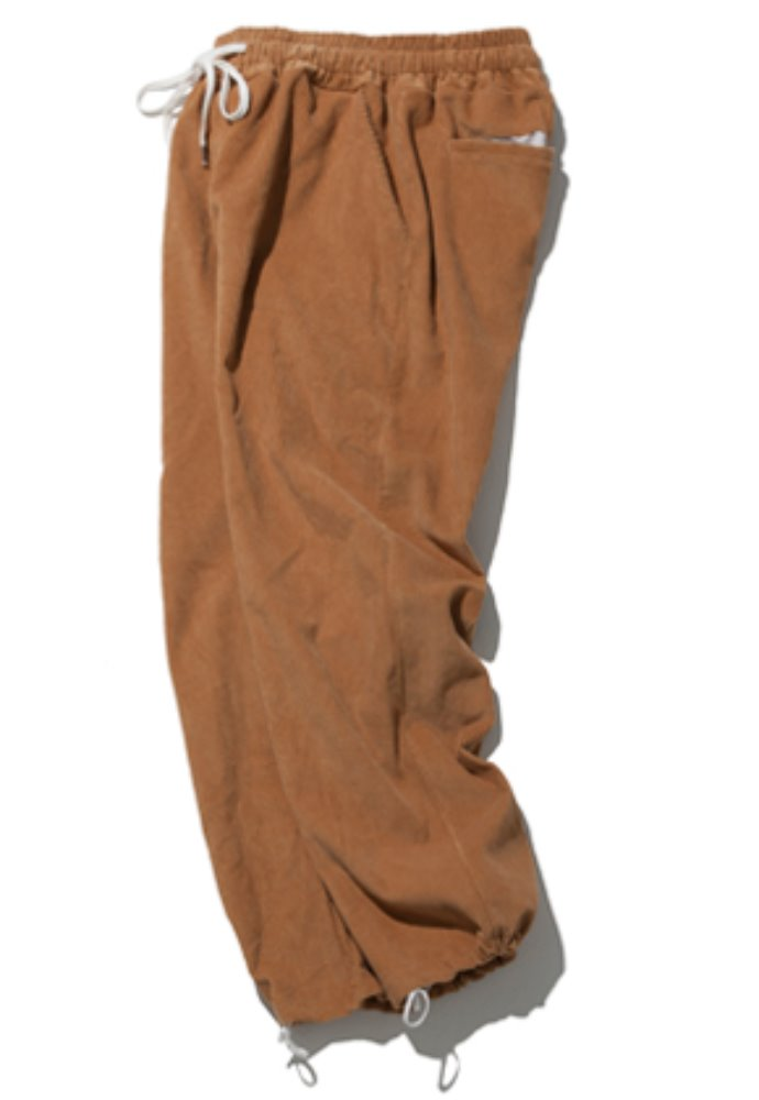 Kruchi크루치 Corduroy Keyring Easy Pants - (brown)
