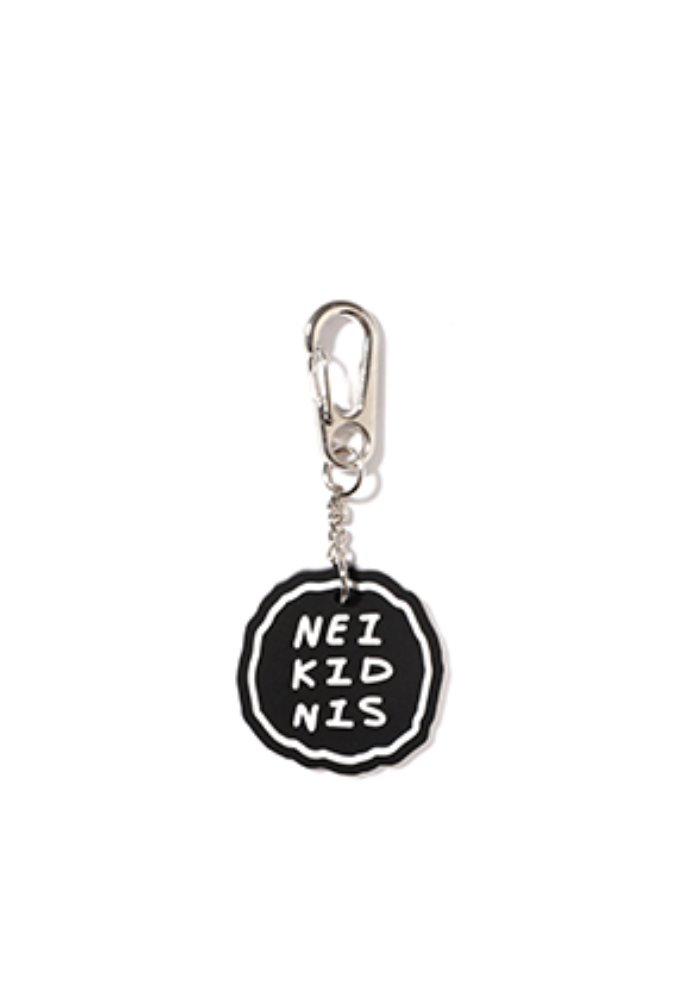 NEIKIDNIS네이키드니스 CAKE LOGO RUBBER KEY RING / BLACK