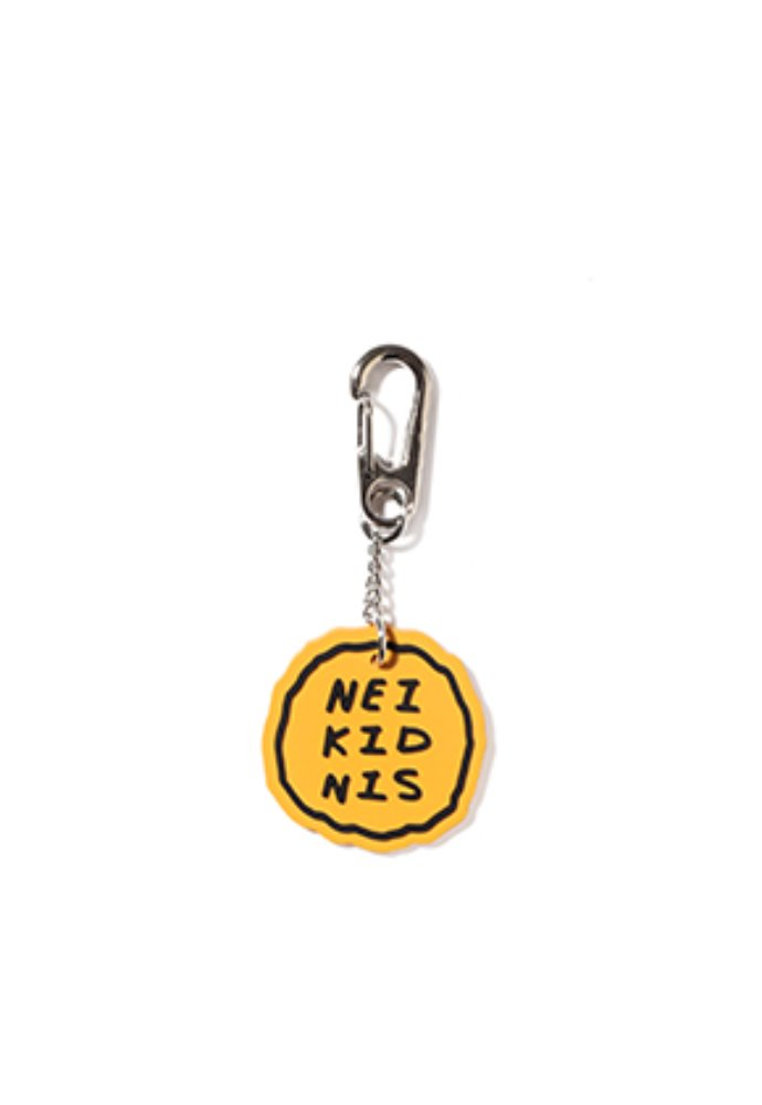 NEIKIDNIS네이키드니스 CAKE LOGO RUBBER KEY RING / YELLOW