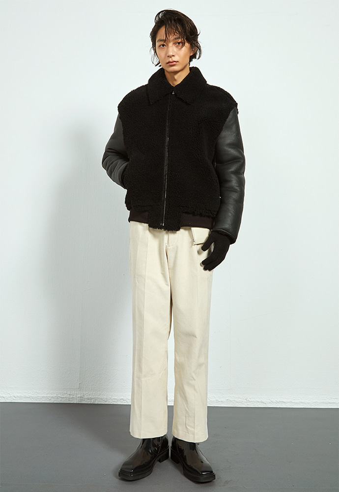 Haleine알렌느 BLACK 2way shearing jacket (HJ077)