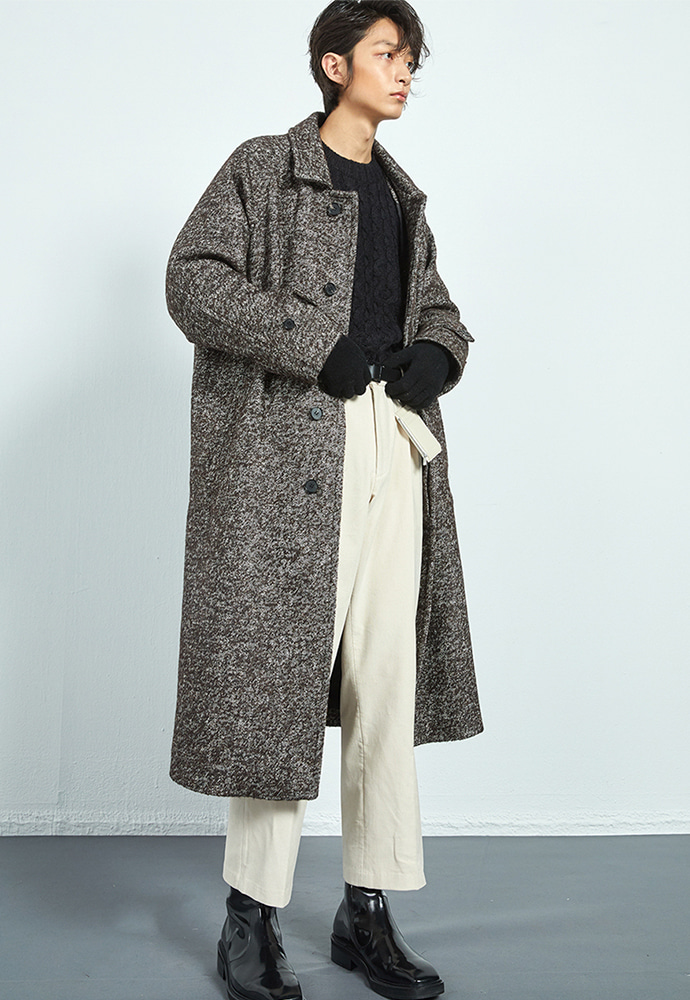 Haleine알렌느 BROWN mohair oversized long balmacaan coat(KJ037)**LIMITED EDITION**