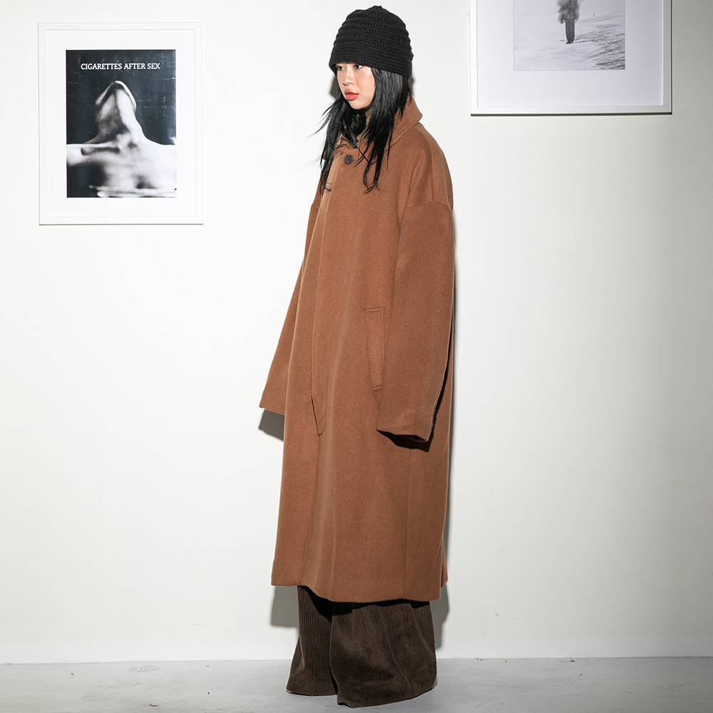 Flare up플레어업 [FLARE] over hidden mac coat (FL-010) - BEIGE
