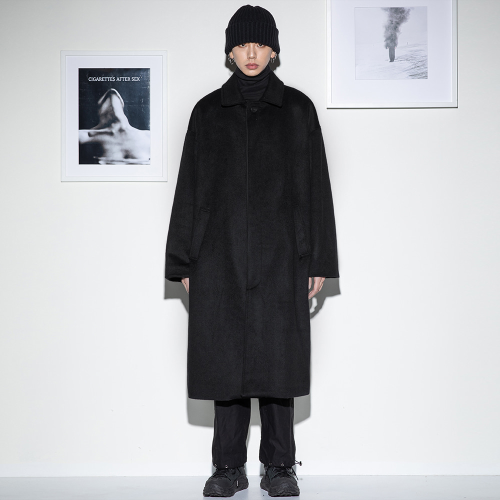 Flare up플레어업 [FLARE] over hidden mac coat (FL-010) - BLACK