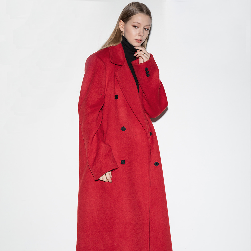 Flare up플레어업 [FLARE] over double long coat (FL-009) - RED