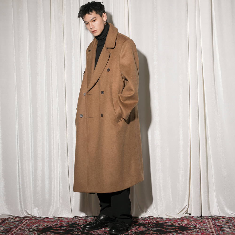 Flare up플레어업 [FLARE] over double long coat (FL-009) - BEIGE