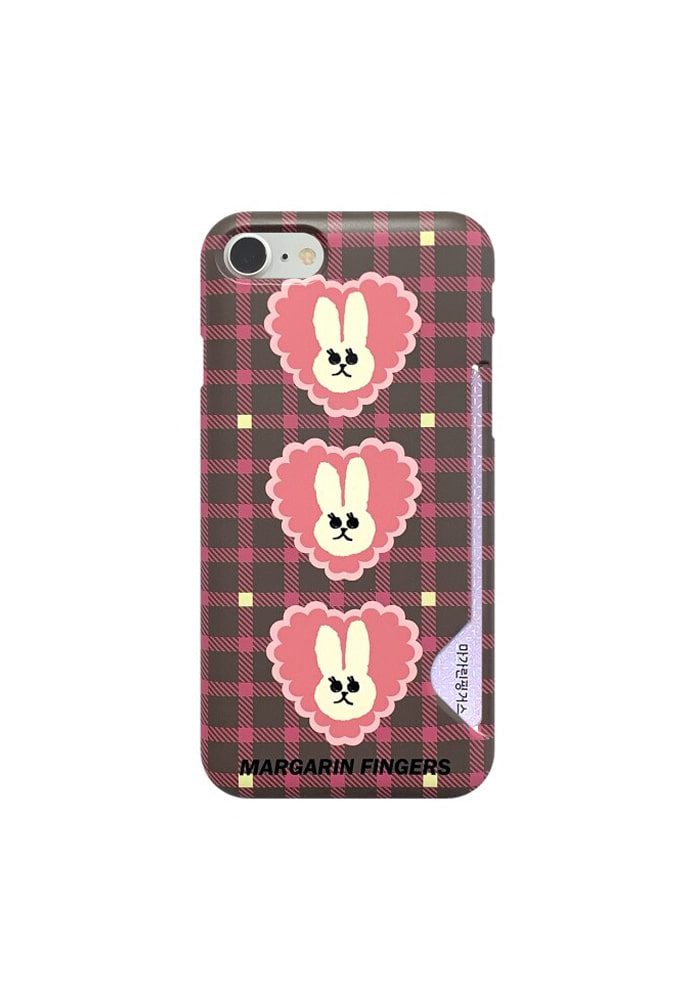 Margarin Fingers마가린핑거스 HEART CHECK IPHONE CASE