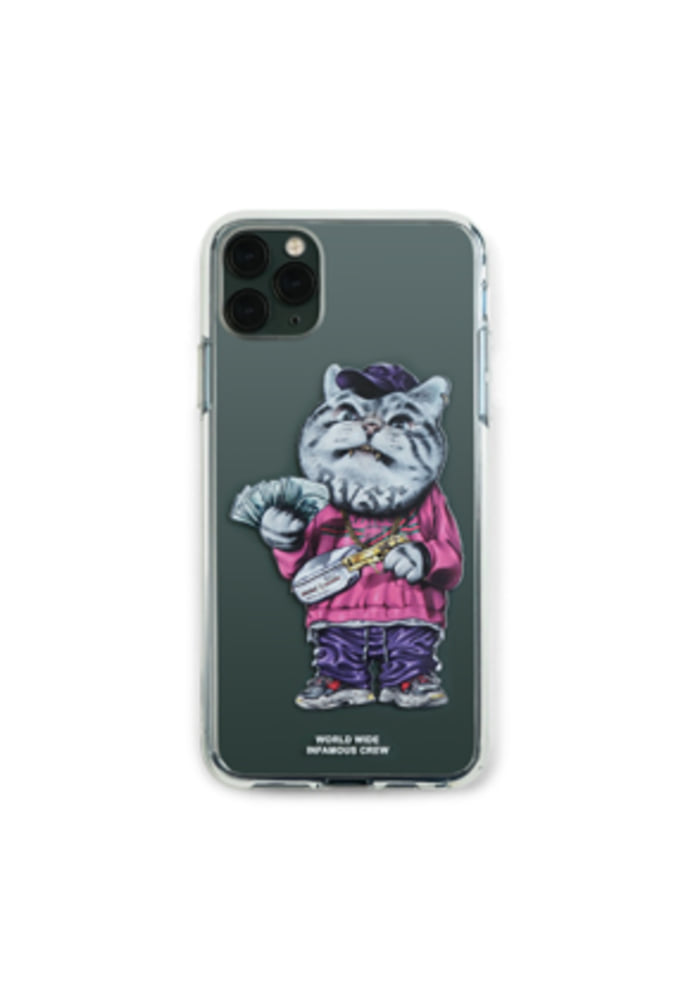 Stigma스티그마 PHONE CASE CATSGANG CLEAR iPHONE 11 / 11 Pro / 11 Pro Max
