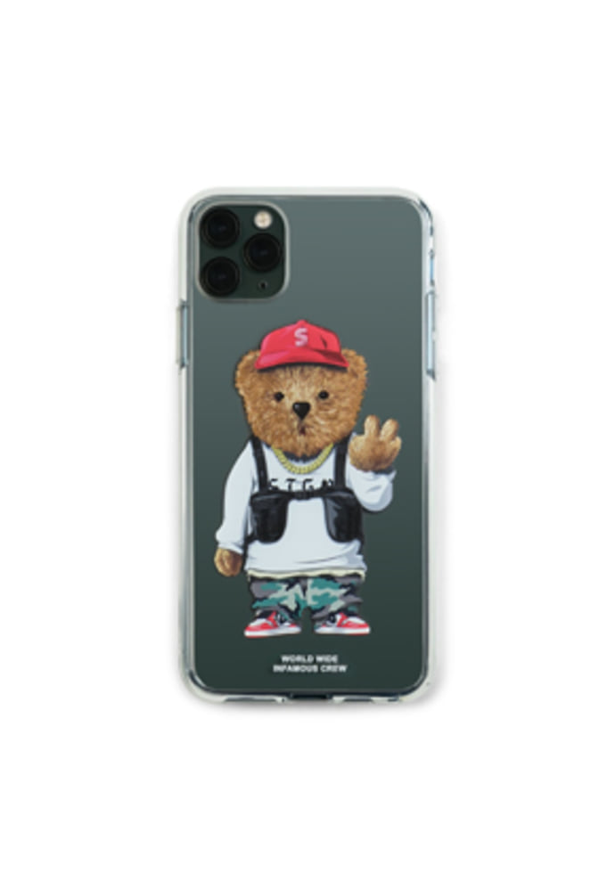 Stigma스티그마 PHONE CASE V BEAR CLEAR iPHONE 11 / 11 Pro / 11 Pro Max