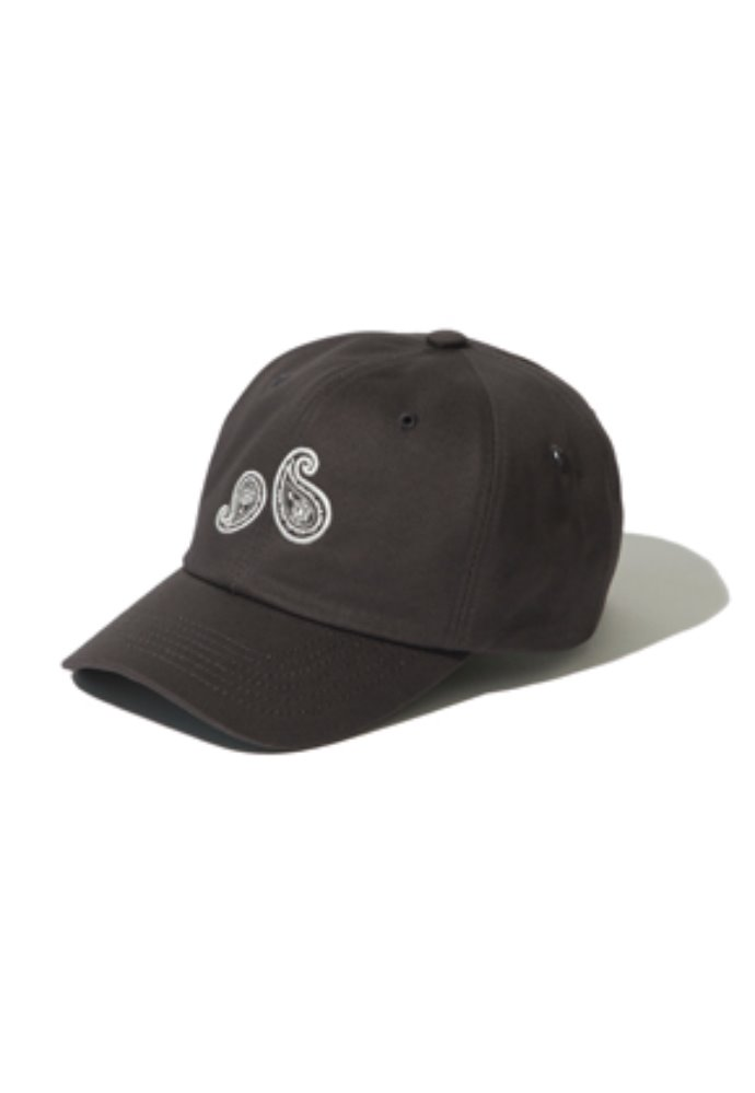 Kruchi크루치 Paisley 6 Panel Cap - (Dark grey)