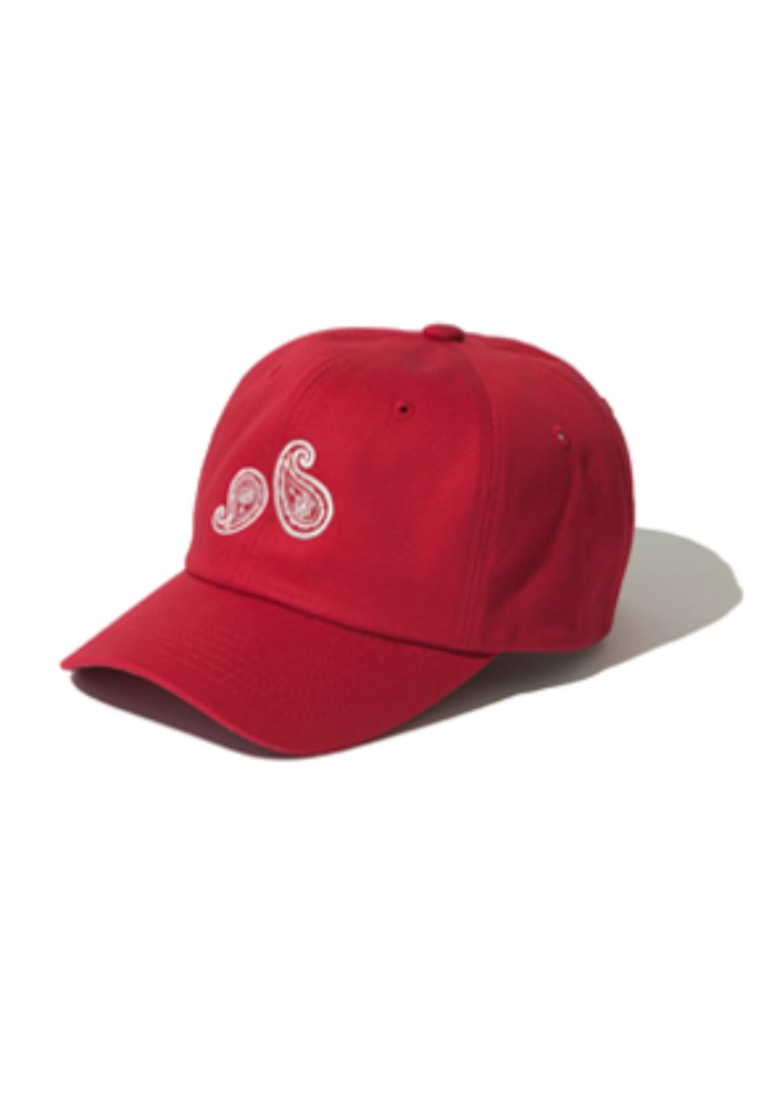 Kruchi크루치 Paisley 6 Panel Cap - (Red)