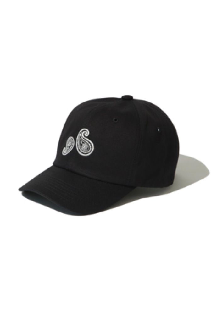 Kruchi크루치 Paisley 6 Panel Cap - (Black/wh)